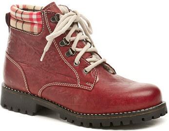 3b6caf1f69 Weinbrenner Kotníkové boty W1211z51 červená dámská zimní obuv Weinbrenner