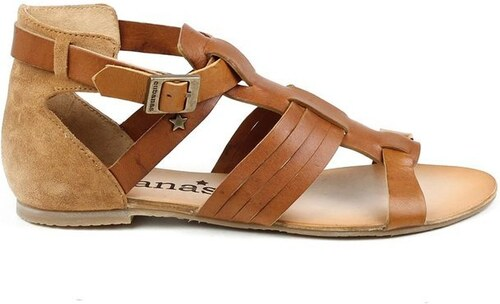 1e795a11a347 Dámské hnědé páskové boty z kůže Cubanas Shoes - Glami.cz