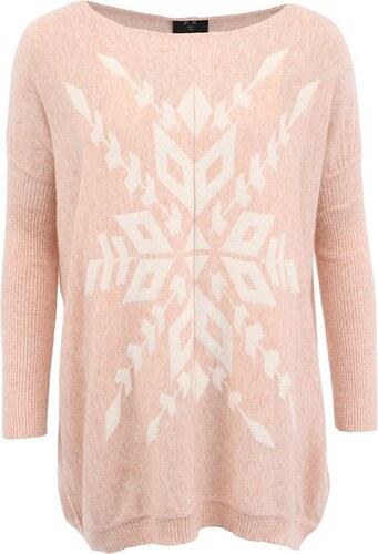 b647a32bf184 Růžový svetr s vločkou AX Paris - Glami.cz