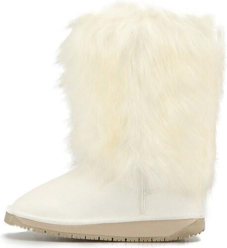 2733463ee8 KЀDDO Chlupaté bílé zimní boty Kéddo - Glami.cz