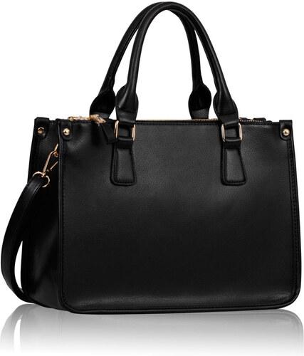 L S Fashion (Anglie) Kabelka LS00184 černá - Glami.cz 8be40c257e3