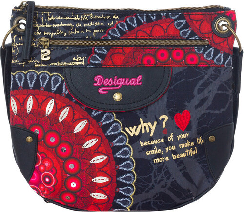 Desigual Crossbody kabelka Brooklyn Bolas Rojas Fresa 46X51033001 ... b226f930e2d