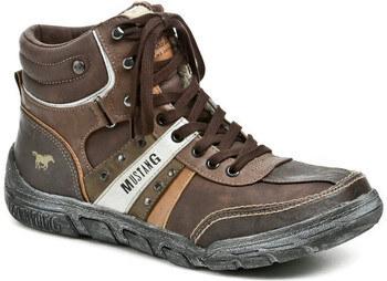 8e453146a147 Mustang Kotníkové boty 4032-603-32 hnědé pánské zimní boty Mustang ...