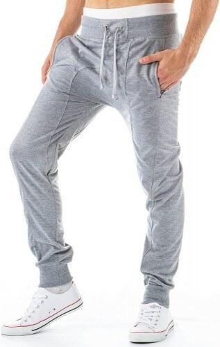 Pánské sportovní kalhoty Uno šedé - šedá