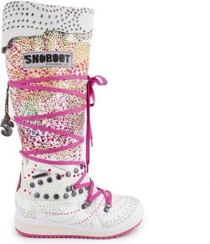 Snoboot - Stylové módní sněhule Braille High White   bílá - Glami.cz 213dcc2198