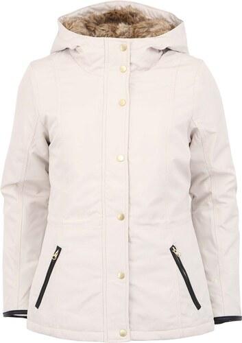 Béžová zimní bunda s kožíškem Vero Moda Sif - Glami.cz d0ef6f6e52