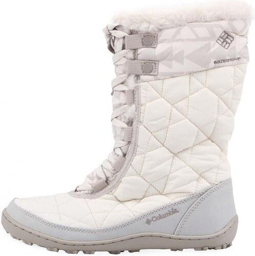 Bílé dámské zimní boty se vzorem Columbia Minx Mid II - Glami.cz ce08c1fe94