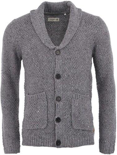 Šedý pletený svetr na knoflíky !Solid Gartcosh - Glami.cz 7601498c09