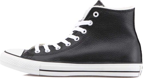 Černé pánské kožené zimní tenisky Converse Chuck Taylor All Star ... a2c3a530ff