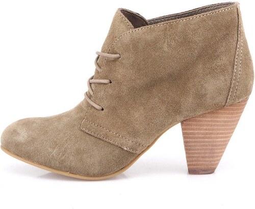 5948bd42f72 Světle hnědé dámské kožené boty na podpatku ALDO Ceilla - Glami.cz