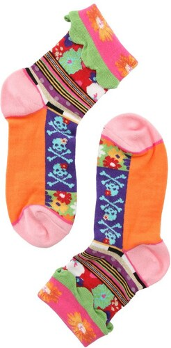 Dámské barevné ponožky Dub   Drino s lebkami - Glami.cz 019fb659d7
