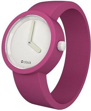 Růžový silikonový pásek na hodinky O clock - Glami.cz 28229e83ce6