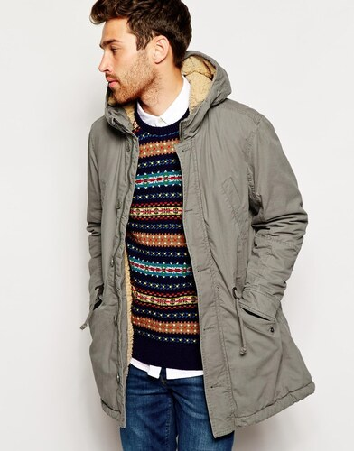 United Colors Of Benetton Parka With Borg Lining - Beige - Glami.cz 0e77fee3fb