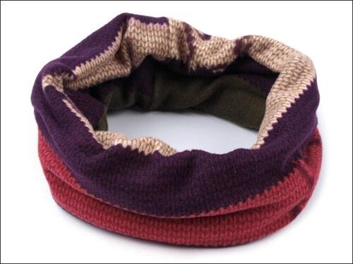 Multifunkční fialový šátek