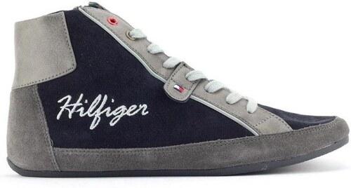 Dámské šedo-modré kotníkové tenisky Tommy Hilfiger - Glami.cz 20bdc32943f