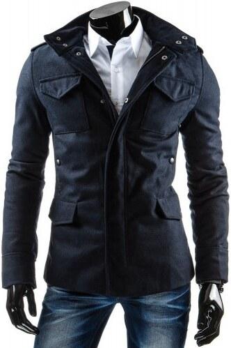 Pánský Slim kabát Toro modrý - modrá