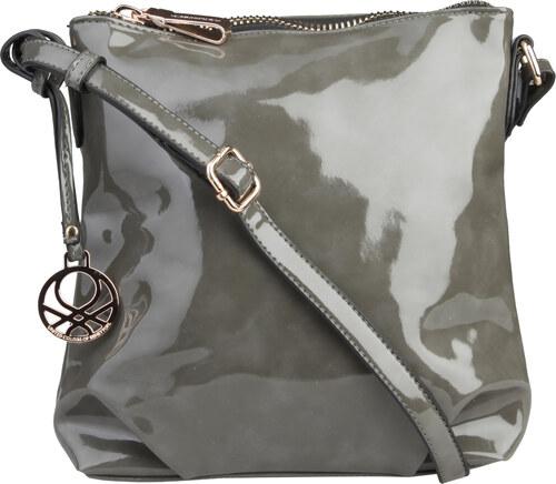 Dámská lakovaná taška přes rameno Benetton   Gaudi - šedá univerzální 6af46b1059a