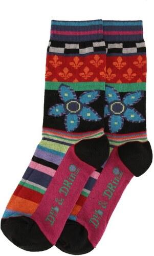 136ec752242 Dámské veselé ponožky Dub   Drino s květinou - Glami.cz