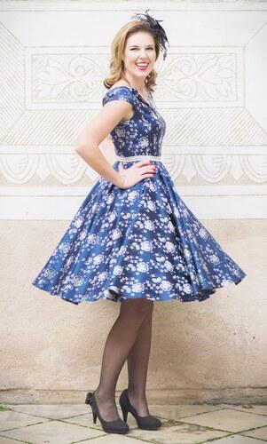 MiaBella LOREN společenské retro šaty tmavěmodré Barva  Barva jako na  obrázku 7944ea95f6