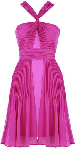 VELA LOVES Fialovo-růžové twist šaty - Glami.cz 039a642ec7