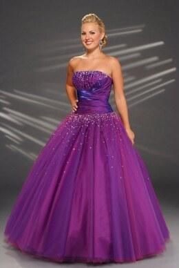 AKCE fialové plesové společenské šaty na maturitní ples Catharine XL ... 9ec449de0c