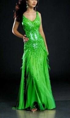 6bcca6aee06 AKCE luxusní zelené plesové společenské šaty XS-S - Glami.cz
