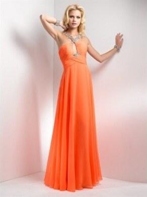 plesové společenské šaty Mandy 28 oranžové e19a396177