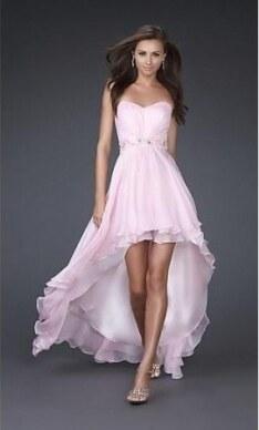 e982e856c4f luxusní světle růžové společenské šaty Giselle S-L - Glami.cz