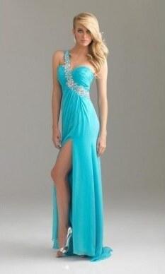 ceb768187250 luxusní modré tyrkysové plesové společenské šaty Joly XS-M - Glami.cz