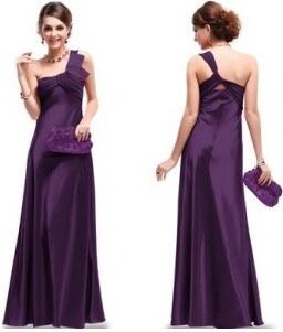 Ever Pretty luxusní fialové dlouhé společenské šaty na jedno rameno ... 6cdd4f5cad