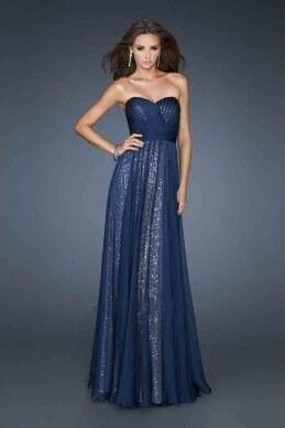 luxusní modré flitrované plesové šaty Jessica S-M Modrá - Glami.cz fa9ed6aa31