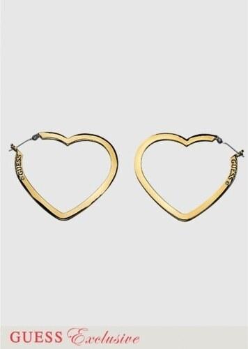 GUESS náušnice Heart-zlatá