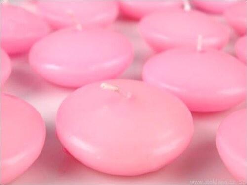 Plovoucí dekorační svíčka růžová