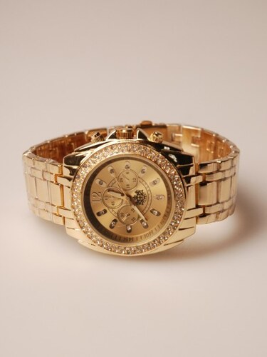 Velké zlaté hodinky LYDC London zbarvené do žluta - Glami.cz 0d262fe9a62