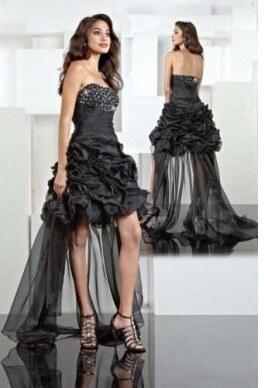 af1ae3c465cb černé krátké šaty s vlečkou AKCE - Glami.cz