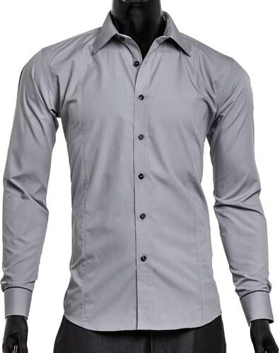 Pánská košile s dlouhým rukávem Victorio - šedá