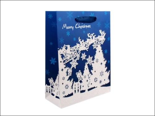Vánoční modrá taška