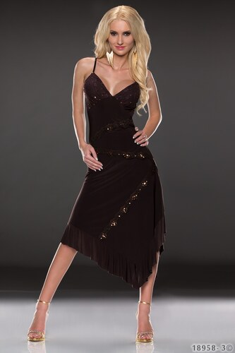 Společenské šaty s třpytkami Britney BROWN vel.36
