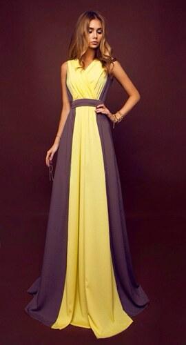 20ff6a92a23 1001DRESS Žluté plesové šaty Fiona - Glami.cz