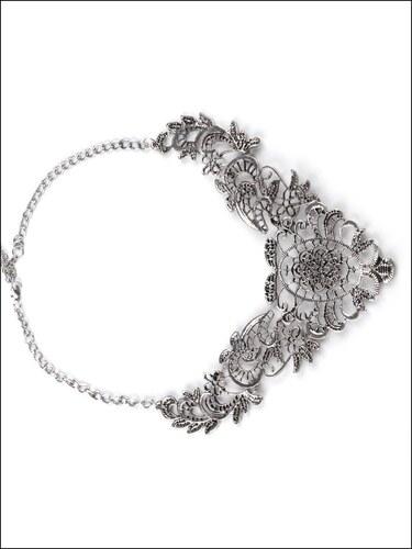 Okouzlující platinový náhrdelník Antique