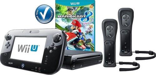Wii U Premium Pack + Mario Kart 8 vorinstalliert + 2 Controller Konsolen-Set mit 3 Jahren Garantie*