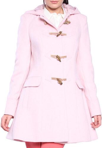 Dámský světle růžový kabát s olivkovými knoflíky Vera Ravenna - Glami.cz affad2942e3