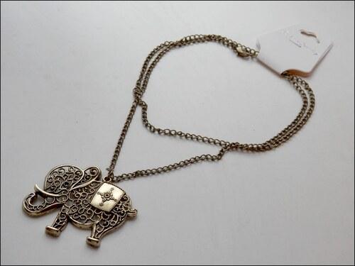 Nevšední bronzový náhrdelník SLON