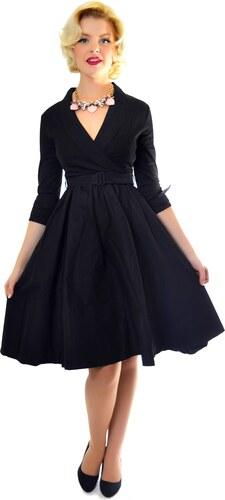 5d78f1c481d VIVI černé šaty inspirované padesátými léty - Retro Šaty.cz - Glami.cz