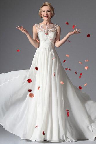 c77bcf7c65 MiaBella Dlouhé svatební retro šaty bez rukávů jako na obrázku