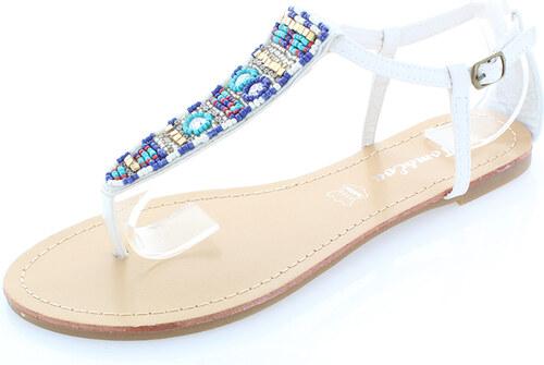 09528d3505cc Biele sandále Indie Style 36 - Glami.cz