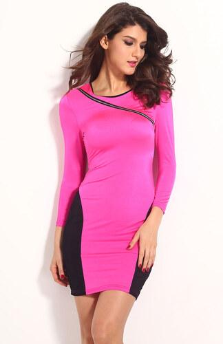 26b0c7f5a62 Růžovo černé přiléhavé šaty - Glami.cz