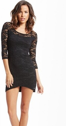 Guess Šaty Venessa Lace Body-Con Dress černé 3783e08a33