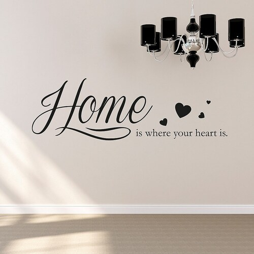 Wandtattoo »Home is where your heart is«