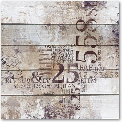Holzbild »Abstrakt - Zahlen«, 50x50cm